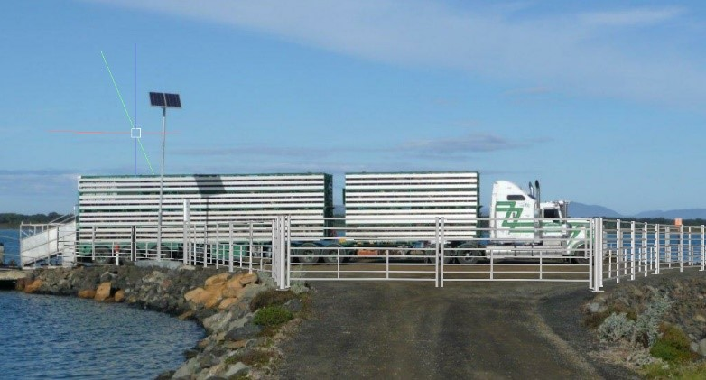 sg-roro-fencing-completed-wirth-livestock-truck